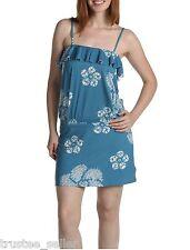 NWT JUICY COUTURE Cobalt Blossom Floral Ruffle Strap Mini Drop Waist Hot Dress