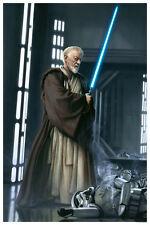 Obi-Wan Kenobi Lightsaber Death Star Stormtrooper Star Wars Large Fine Art Print