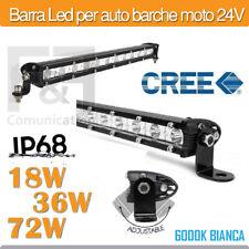 BARRA LED FARO CAMION FUORISTRADA AUTO BARCA 24V 18W 36W 72W OFF-ROAD