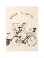 Sam Toft Doggie Taxi Service Sketch Print 30x40cm
