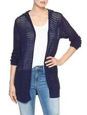 GAP Women`s Open Stitch Hoodie Cardigan Sweater Navy NWT Msrp $44.99