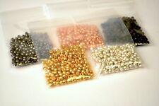 1000 Round Tungsten Beads Copper Black Gold Silver Orange 7 Sizes 6 Colors