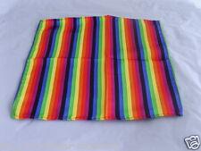 "Multi-Coloured RAINBOW Pocket Hankie-12""x12"">*More Squares U Buy> More £ U Save*"