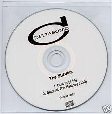 THE SUZUKIS Built In UK 2-trk promo test CD Deltasonic