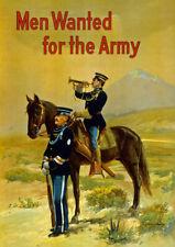 W28 vintage WWI US ARMY Uomini voleva reclutamento manifesto di GUERRA WW1 A1 A2 A3