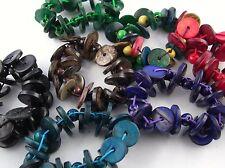 Natur Trend Ethno Holz Armband  Perlen und Scheiben wild gemischt
