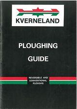 KVERNELAND aratura Guide-REVERSIBILE & convenzionale-COME COLTIVARE