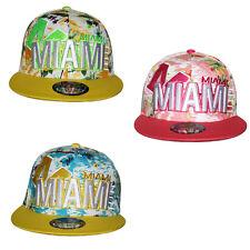 Niños Jóvenes Hawaiian Miami CIERRE Gorra visera plana sombrero Snapback  Unisex 0b3ed5126b1