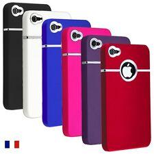 """Coque étui housse """"Chrome Case luxe"""" pour Iphone 4 + 1 verre trempé offert"""