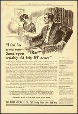 1911 rare vintage ad for 'Sanatogen', natural food tonic -091412