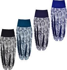 Womens Summer Trouser Aladdin Harem Pants UK Size 8-14