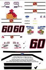 #60 Mark Martin Winn-Dixie 1/32nd Scale Slot Car Decals
