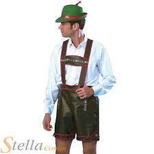 Mens German Man Costume Bavarian Beer Oktoberfest Lederhosen Adult Fancy Dress