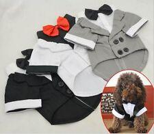 Pet Dog Cat Puppy Clothes Wedding Suit Tuxedo Costume collared Shirt XS S M L XL