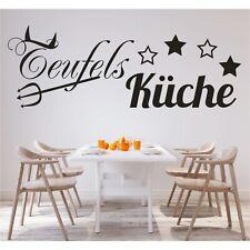 Wandtattoo Spruch Teufels Küche Sticker Wandsticker Aufkleber Wandaufkleber 1