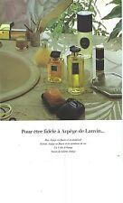 PUBLICITE  1974  LANVIN   pour etre fidèle a ARPEGE savons parfums extraits