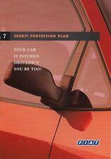 Fiat Credit Protection Plan 1999 UK Market Sales Brochure Ulysse Bravo