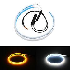 2x 60cm Flessibile Morbido Tubo Striscia Luce di LED auto DRL di marcia diurna