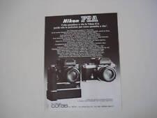 advertising Pubblicità 1978 NIKON F2A