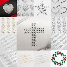 Diamante Self Adhesive Stickers Embellishments Rhinestones - Various Designs