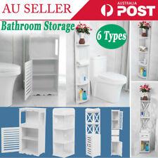 6 type Bathroom Cabinet Storage Shelf Toilet Tissue Cupboard Shower Laundry