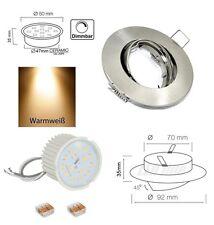 Flacher LED Spot Einbaustrahler 7W dimmbar ohne Dimmer Einbautiefe : 40mm IP20