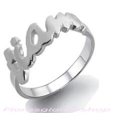 Anello con scritta TI AMO in argento massiccio, love ring firmato Flores