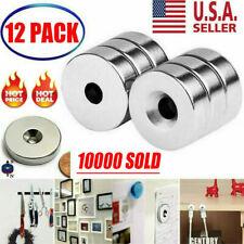 12pcs 3/4 x 1/4 Inch Neodymium Rare Earth Countersunk Ring Magnets N52 USA