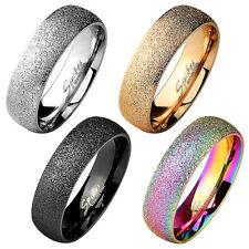 Herren & Damen Partnerring Verlobungsring Trau Ring sandgestrahlt Diamantoptik
