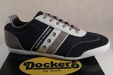 dockers homme chaussures à lacets baskets cuir véritable bleu 28pe999 NEUF