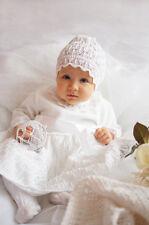 Taufkleid Mädchen Häkelkleid Strick Set Mütze NEU 56 62 68 74 80 86 Babykleid 22