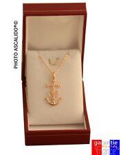 Coffret collier petite croix de provence Camargaise + chaine en plaqué Or  neuf