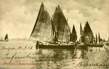 """"""" VENEZIA : BARCHE PESCHERECCI """" VIAGGIATA 12.09.1903"""