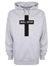 Believe Hoodie Christian Cross Jesus Christ Religious Hooded Sweatshirt