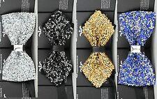 Stylish Mens Diamond Studded Sparkling Partying Wedding Groomsmen Bow Tie
