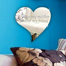 Personalise Mum Keepsake Plaque Acrylic Stylish Heart Mirror Mothers day Present