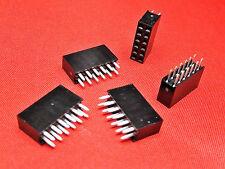 Encabezado de PCB de 6+6 vías tira de zócalo doble fila Chapado en Oro TFH12DS