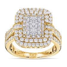 Diamant Ring Pavee mit 2.40 Karat Diamanten in 585/14K Gelbgold