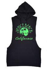 Venice Beach Black Tank Top Hoodie Fun Sun California Surfing Ocean Vest Shirt