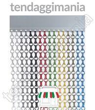 Tenda moschiera antimosche colorata per porta finestra in catena alluminio tende