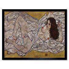 Egon Schiele Reclining Woman Art Print Framed 12x16