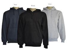 Men's 100% COTTON plain blank Pull Over  Hoodie Jumper size S,M,L,XL,XXL,XXXL