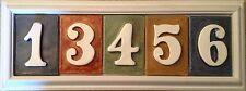 New listing Address number plaque. Tile Pvc weatherproof frame,tiles incl. Applewood Pottery