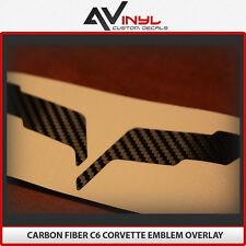 C6 Corvette Emblem Overlay 6 color choices black red silver white carbon fiber