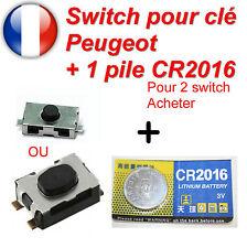 Switch bouton de clé télécommande pour Peugeot plip Envoi sous enveloppe à BULLE
