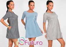 Women's Casual Mini Dress Shift Dress Short Sleeve Tunic Size 8-12 FT1014