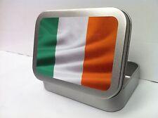 Irish Flag, Ireland St Patrick ROI Cigarette Tobacco Storage 2oz Hinged Tin