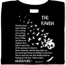 Edgar Allan Poe - The Raven Shirt, Graphic Poetry T Shirt, Literature, Sm - 5X