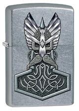Zippo Hammer of Thor Gottheit Street Chrome persönliche Gravur wählbar 60002489
