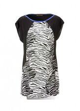 Tamaris mujer blusa larga blusa túnica estampado de Cebra Top poliéster 637140